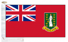 British Virgin Islands Civil Red Ensign Courtesy Boat Flags (Roped and Toggled)